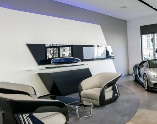 Second Bugatti dealership & boutique unveiled in Munich.
