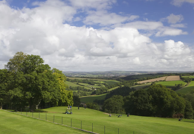 Highbullen Hotel is set in 125 acres of mature parkland which rolls into the surrounding Mole Valley and Exmoor countryside