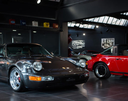 Cars meet indulgence with showroom featuring a restaurant managed by a michelin star chef.