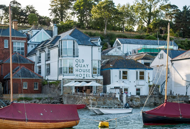 The Old Quay House is a boutique hotel in Fowey, Cornwall.