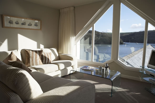 The Penthouse in The Old Quay House Hotel, Fowey, Cornwall
