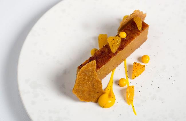 Treacle tart,orange,mascarpone