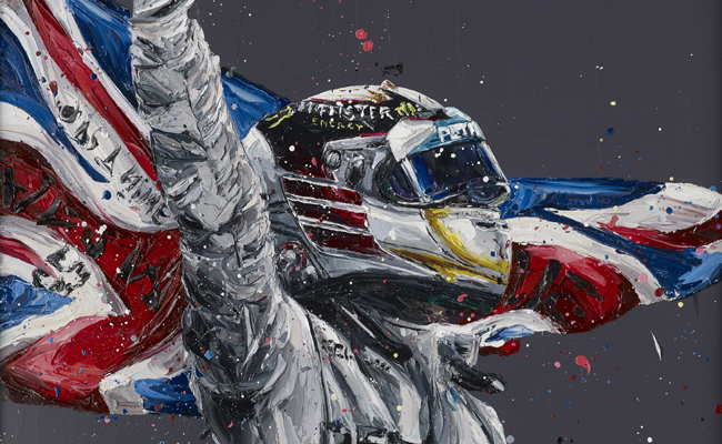 Lewis Hamilton artwork set to draw attention in any room.