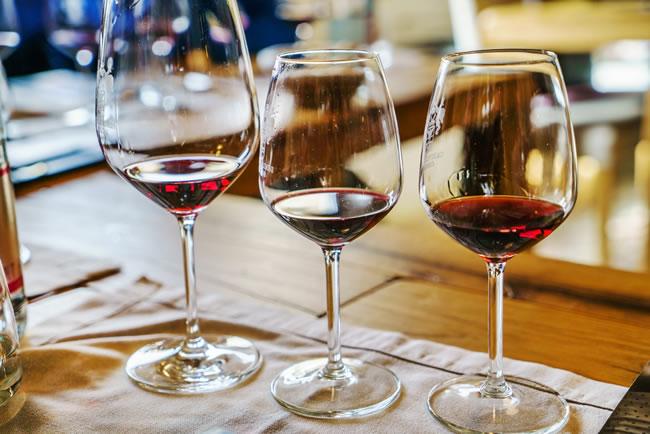 wine on the bar