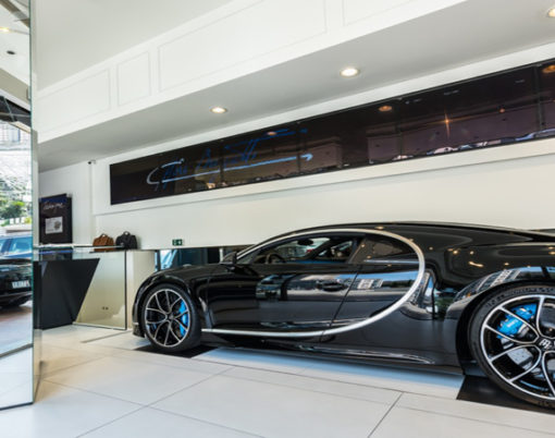 Monaco receives luxurious boost with new Bugatti showroom.