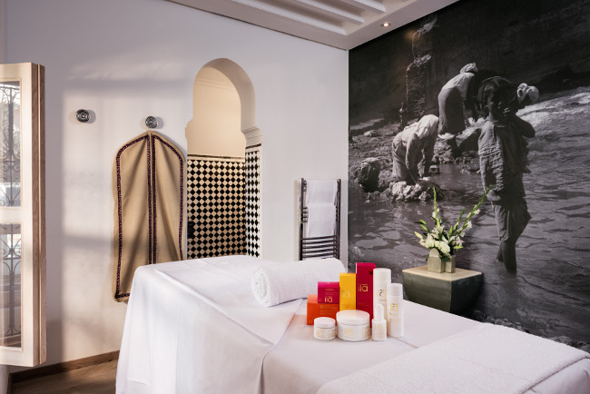 Riad Farnatchi Spa, Marrakech. Photo by Alan Keohane www.still-images.net