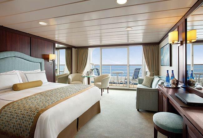 Oceania's Sirena penthouse suite