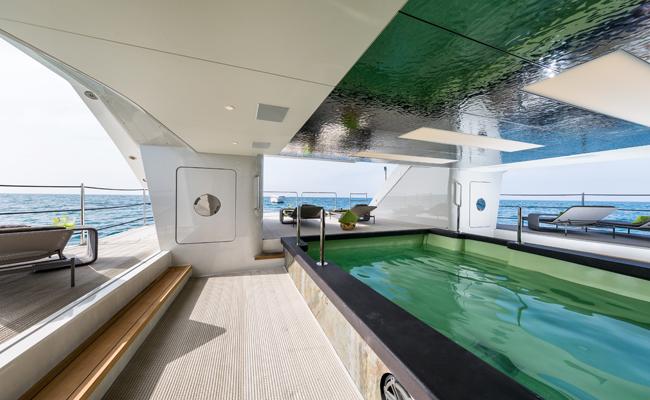 Take s dip on board Genesi, superyacht award winner.
