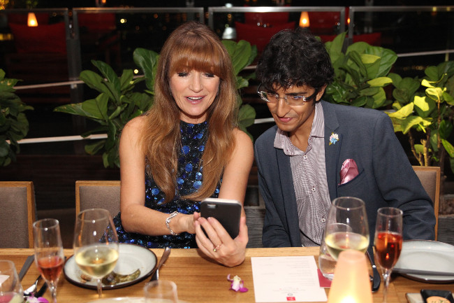 Jane Seymour & Karan Tilani enjoying the lavish dinner party at CÉ LA VI