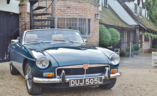 Take in the beautiful scenery of Suffolk in a classic car thanks to