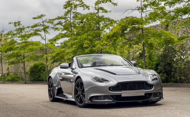 In a third announcement this week. Aston Martin unveiled the Vantage Gt12 Roadster.