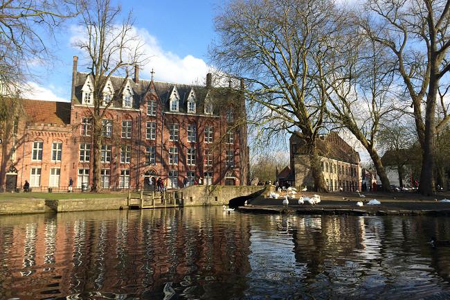 Boat View, Bruges