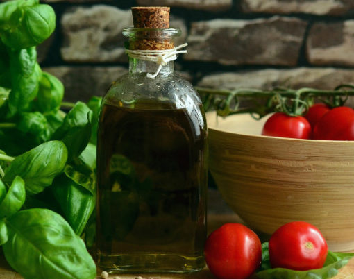 olive oil and salad