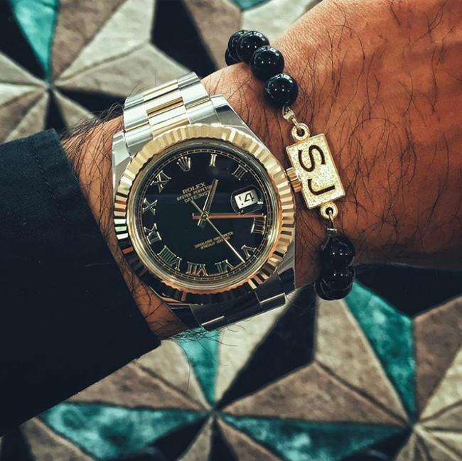 The Black Agate Canterbury Series Bracelet