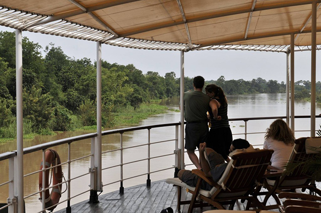 RV Mekong Pandaw, sun deck