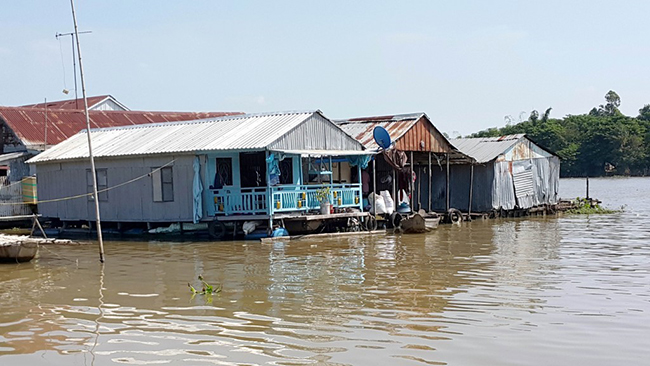 The floating village and fish farm