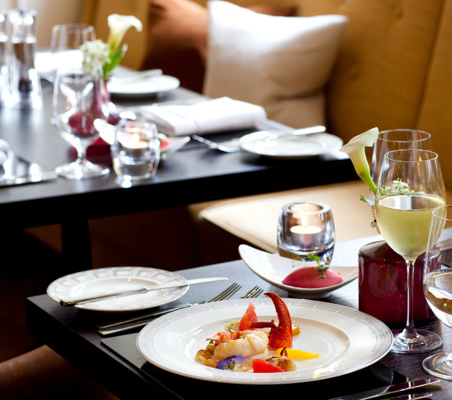 Johann Lafer at The Gainsborough is situated in a beautiful space on the ground floor of the hotel