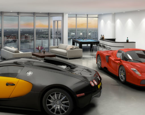 Porsche meets luxury condos in Florida.