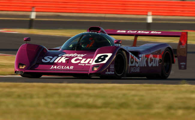 Nic Minassian JAGUAR XJR14 sets the Festival lap record at the 2013 Silverstone Classic.