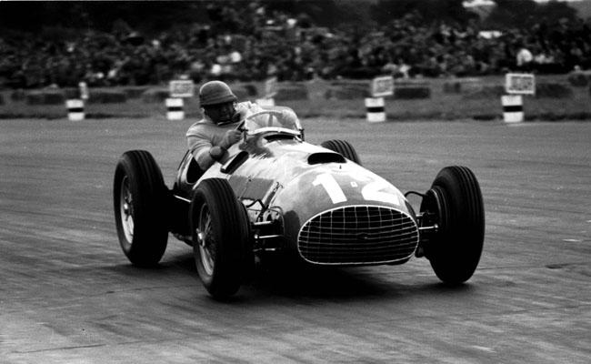 1951 British Grand Prix, Silverstone Jose Froilan Gonzalez with Ferrari's first Grand Prix victory Photo Credit: Silverstone Classic/LAT Photographic www.latphoto.co.uk