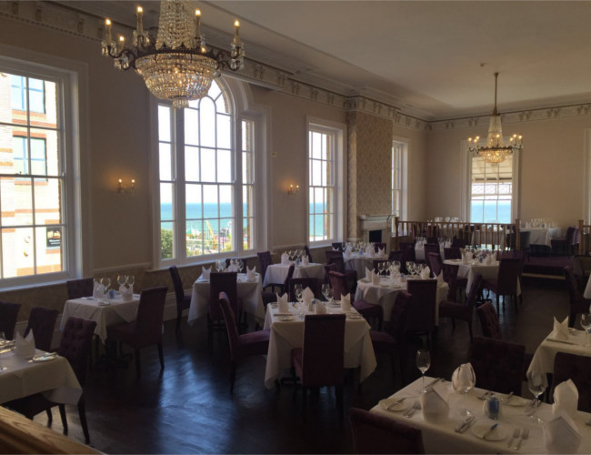 The Royal Hotel transforms the historic ballroom into a quality restaurant.