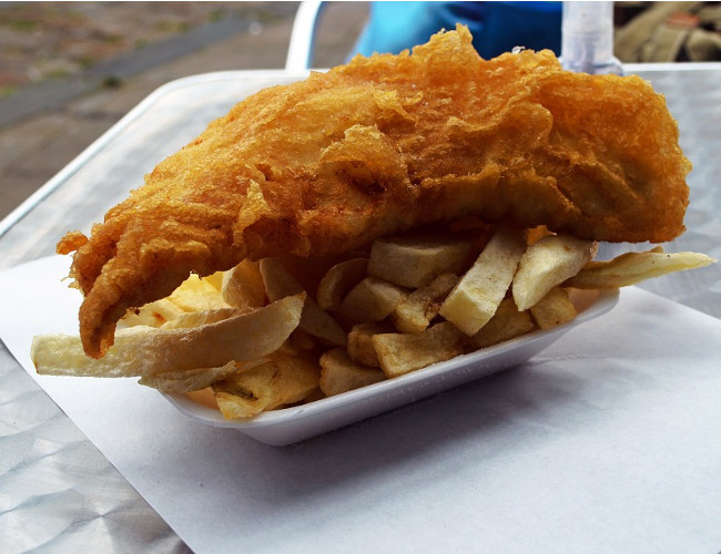 British public move away from the traditional fish and chips towards more exotic alternatives. Image Credit: pixabay.com