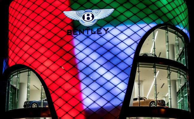 Bentley Motors make their presence felt in the UAE.