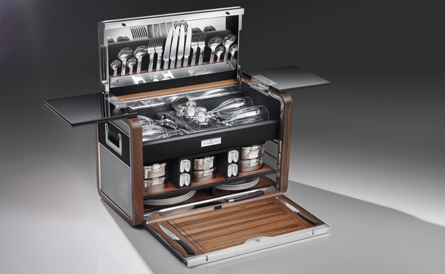 Just 50 of these rare hampers will be available for sale from Rolls-Royce.