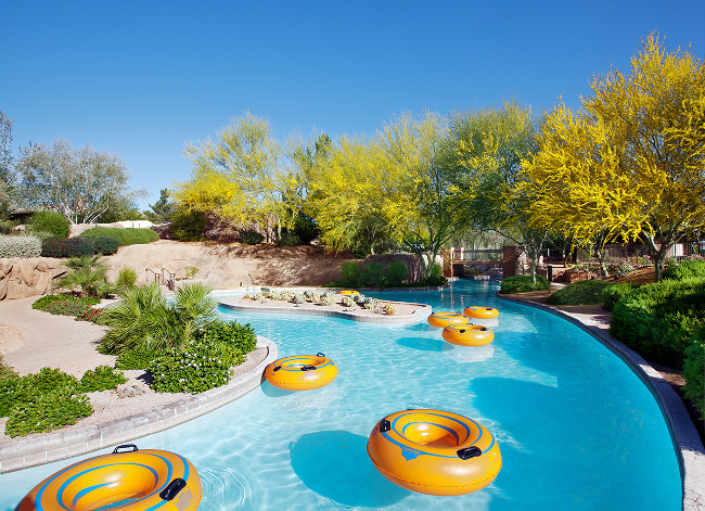 Lazy River - floating tubes 4x2  Courtesy The Westin Kierland Resort & Spa
