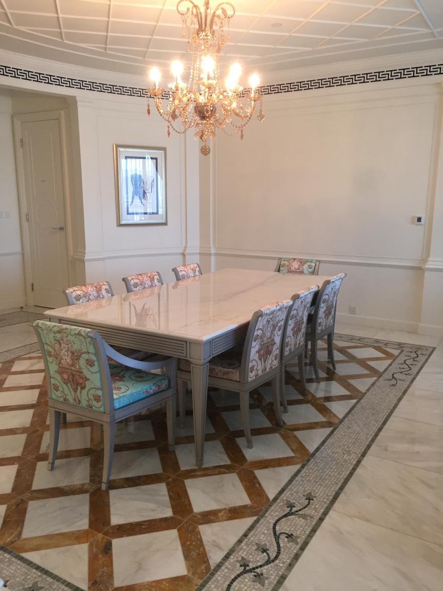 Palazzo Versace Dubai residence suite dining
