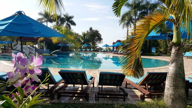 Pool time at the Sokha Beach Resort