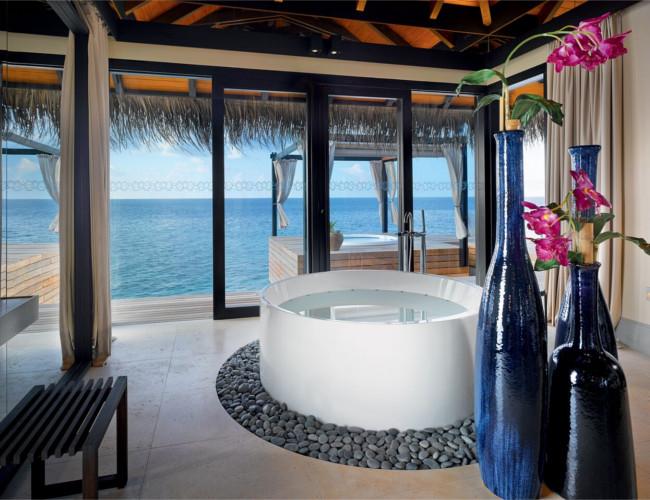 Ocean Pool House at Velaa Private Island.