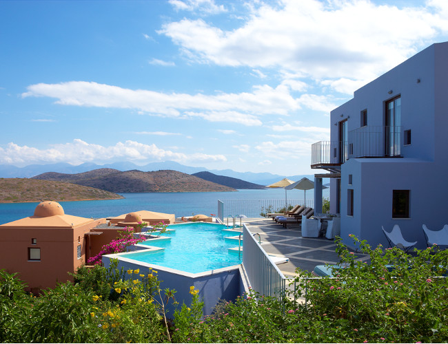 Private pool with a spectacular view at the Domes of Elounda.