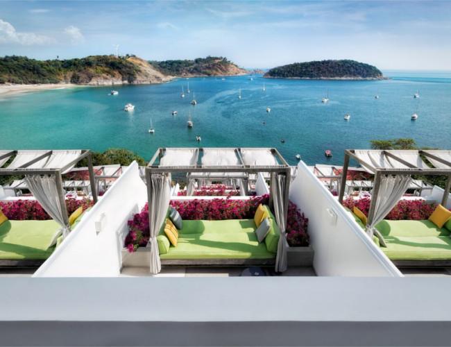 The stunning views from The Nai Harn resort.