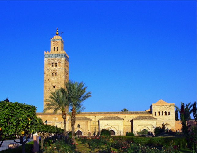 The exotic North African city of Marrakesh in Morocco.