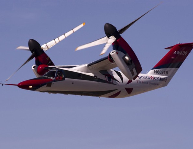 The  W609 tilt- rotor combines the concept of both helicopter and plane to create a luxury piece of engineering.