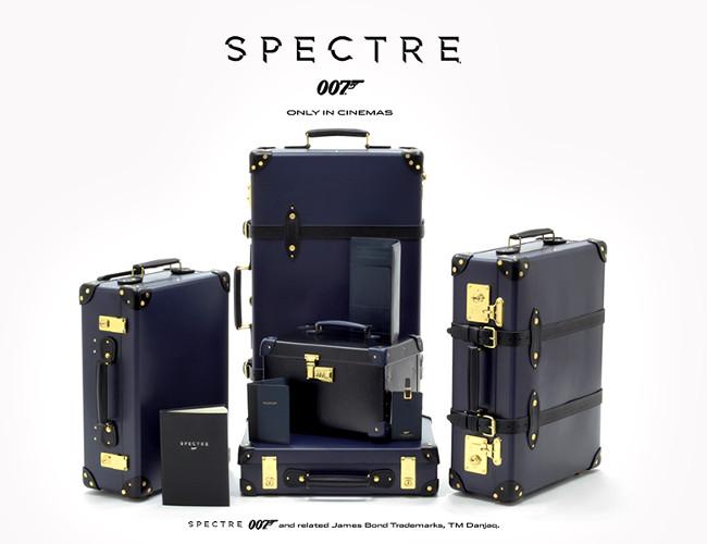 Bond inspired Globe Trotter Luggage.