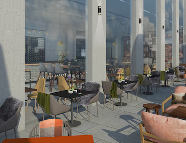 Artists impression of The Refinery Spinningfields soon to open in Manchester.