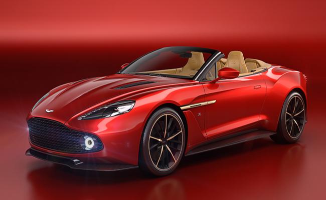 Continuing its' impressive range are Aston Martin with their Zagato Volante Vanquish model.