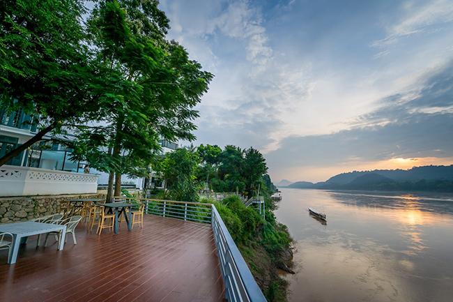 Views of the Mekong from Kiridara Villa Mekong