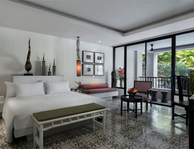 Luxurious bedrooms at Manathai Surin Phuket.
