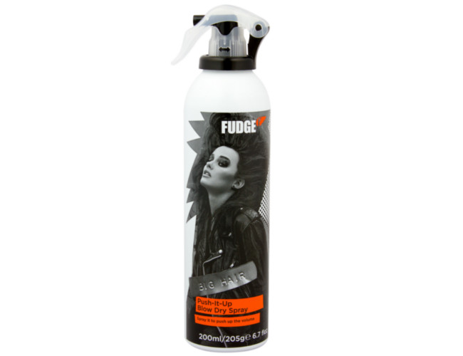 Fudge Push It Up Blow Dry Spray, £8.20 for 200ml.