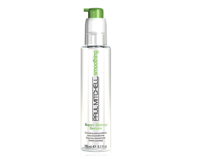 Paul Mitchell's serum leaves hair smooth, shiny and frizz-free.