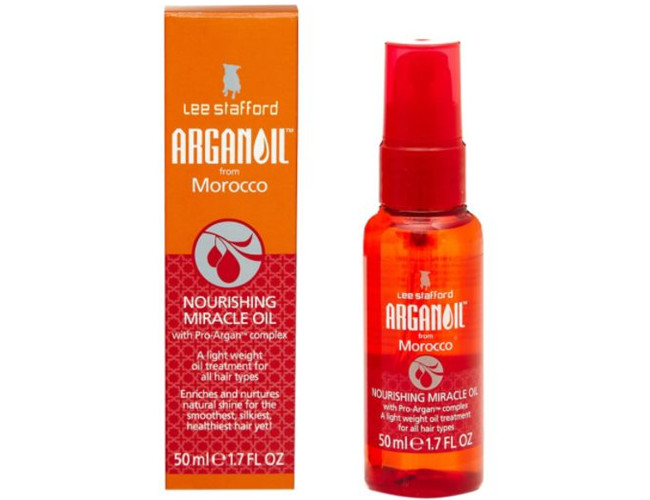 Use Lee Stanford's Miracle Oil for soft, shiny hair.