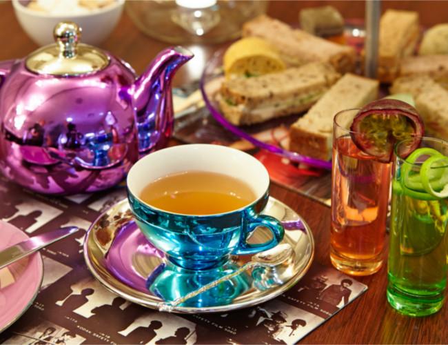 Enjoy afternoon tea at Glam Rock cafe.