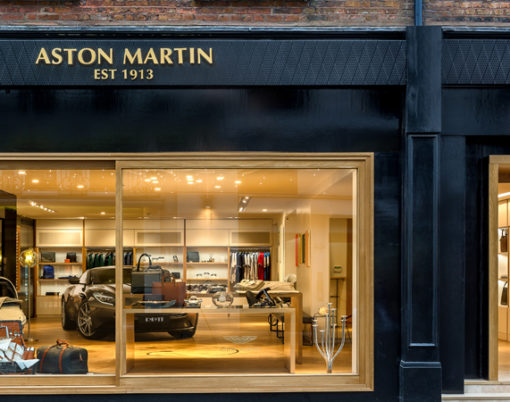 Quintessentially british brand Aston Martin unveil lifestyle showroom.