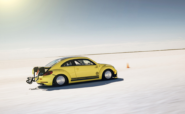 The Volkswagen story continues to grow as an adapted Beetle sets a new speed record.