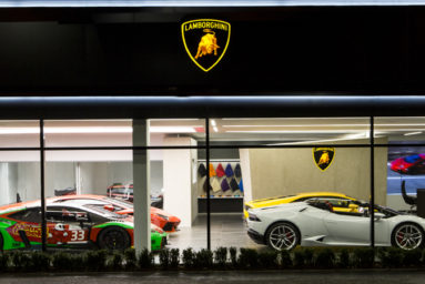Bristol gets introduced to Lamborghini with a new showroom.