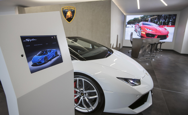 New design showrooms set to boost customer service with Lamborghini.