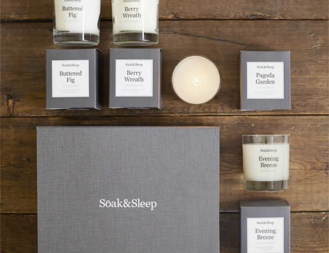 The Luxury Candle Gift Set from Soak&Sleep.
